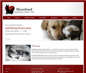 Heartland Veterinary Clinic web design Morton, IL